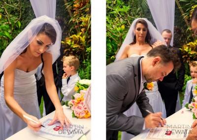 couple signing