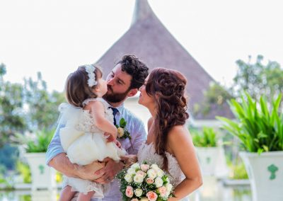 Intimate family wedding