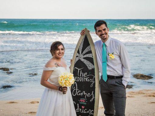 James & Adriana, Sawangan beach and The Edge